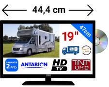 """TV19DVDB - TÉLÉVISEUR CAMPING CAR 19"""" 47cm TNTUHD 4K UHD 24V 12V ANTARION"""