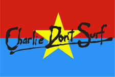 Charlie Don't Surf VC Flag Sticker Decal Apocalypse Now surfing