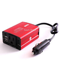 Car Inverter 150W DC 12V to 110V AC Converter with 3.1A Dual USB Car Charger