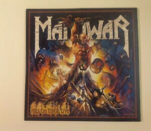 MANOWAR HELL ON STAGE LIVE 3 LP VINILE Nuclear Blast 1999 + LIBRETTO