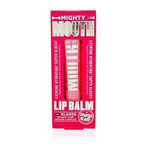 SOAP & GLORY MIGHTY MOUTH LIP BALM WITH COLLAGEN PLUMP (NAKED PINK) .4 OZ NIB