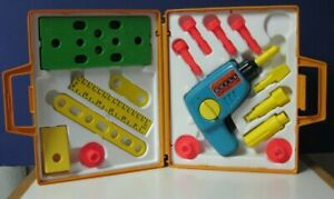 Fisher Price Tool Kit With Wind Up Drill - 924 - 1977 Vintage