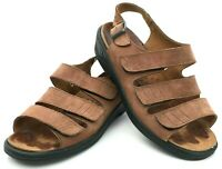 Romika Women's Size 9 EU 40 Brown Suede Wedge Sandal Orthotic-Friendly