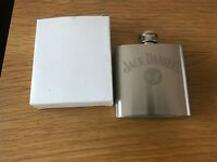 JACK DANIEL'S OLD NO.7 TENNESSEE WHISKEY 3 OZ. STAINLESS STEEL HIP FLASK VGC.
