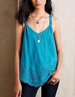 ANTHROPOLOGIE Meadow Rue Knotted Lace Tank Shirt NwT Large