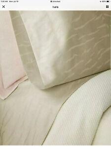 $115 Ralph Lauren Olivia Mirada Vintage Silver Set of 2 STANDARD Pillowcases