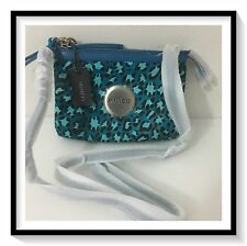 Mimco Leather SECRET Couch Hip Across body Hand Bag BNWT $249 P00L BLUE OCELO