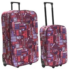 Extra Large Wheeled Cabin Flight Hand Travel Trolley Suitcase Luggage Case Bag