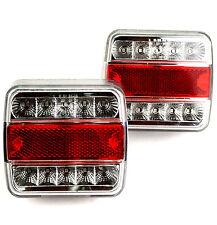 2 Stück Anhänger Rückleuchte LED Rücklicht Trailer 4 Funktionen Beleuchtung LED