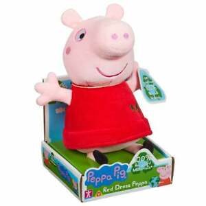 Peppa Pig - 20cm Eco Plush Supersoft Red Dress Peppa 100% Recycled Soft Toy