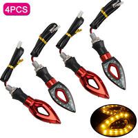 4x 12LED Motorcycle Motorbike Turn Signal Indicators Lights Lamp Amber Universal