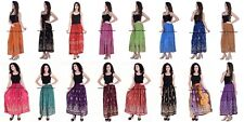 SEQUINED SKIRT HIPPY FESTIVAL BOHEMIAN GYPSY INDIAN RAYON 10 PC WHOLESALE LOT
