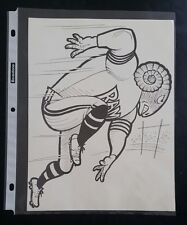 "VINTAGE FOOTBALL NFL Cartoon Team Print LOS ANGELES RAMS 8""X10"" Original Print"