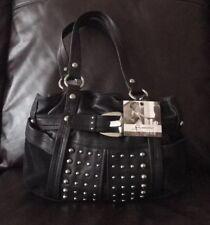 b makowsky black leather handbag Satchel Shoulder Bag Hobo $278