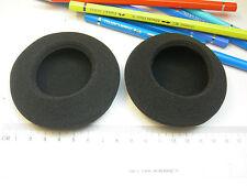 2 coussinets de rechange en mousse pour écouteurs casque 80 mm