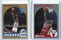 MICHAEL JORDAN 2 Card Lot Basketball MLB Fleer Hoops