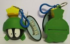 1997 Looney Tunes Marvin the Martian Keyring Coin Purse Backpack Purse Clip On