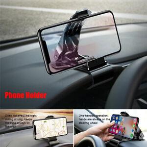 1PC 360° Rotation Car Dashboard Phone GPS Holder Clip Adjustable Angle Anti-slip