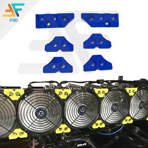 Fan Bracket GPU Veddha Mining Rig Fan Clips Mounting support 120mm Fans Packs