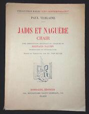 Paul Verlaine - Jadis et Naguère - ill. B. Naudin - EO Tirage de tête avec suite