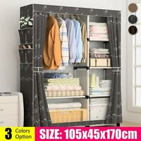 Portable Closet Storage Organizer Clothes Shelf Wardrobe Rack Shelves Heavy Duty