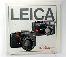 Leica M4-P and Leica R4 Sales Brochure - printed 1984