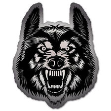 "Wolf Head Styling Vinyl Car Sticker Decal 5"" x 4"""