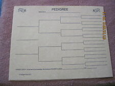 Border Collie Blank Pedigree Sheets Pack 10 FREE SHIPPING dog canine