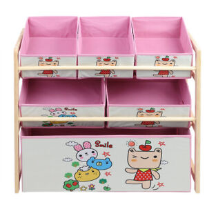 Children Kids Bookcase Bookshelf Toy Storage Book Shelf Rack Christmas Gift