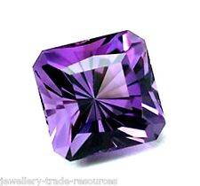 10mm x 10mm Natural Purple Amethyst Octagon Emerald Cut Gem Gemstone