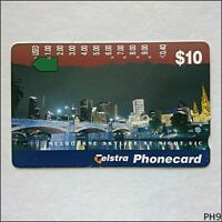 Telstra Cityscapes Melbourne Skyline N955723a 1160 $10 Phonecard (PH9)
