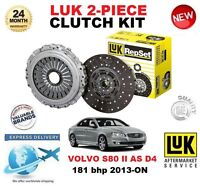 FOR VOLVO S80 II AS D4 CLUTCH KIT 181 BHP 2013-ON LUK 2 PIECE EO QUALITY