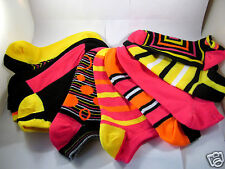 K.Bell Mix & Match Bright Assorted Colors No Show Set of 5 Pack Ladies Socks New