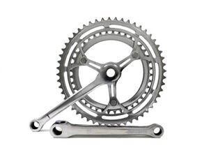 Unbranded 52/40T 170mm 9/16x20 (English) Chrome Steel Peugeot Bicycle Crankset