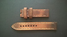 WATCH STRAP/BAND - GENUINE VINTAGE AMMO LEATHER-PAM-STEINHART - HANDMADE 22mm
