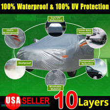 10 Layers Car Cover SOFT Outdoor Waterproof Scratch Rain Snow Sun Resistant 3XL