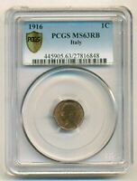 Italy 1916 Centesimo MS63 RB PCGS