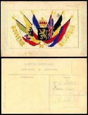 Belgian Embroidered Silk Collectable Military Postcards