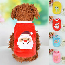 Dog Vest Christmas Fleece Warm Vest Cartoon Rabiit Puppy Pet Dog Clothes T Shirt