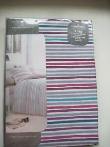 Andrea Striped Printed Duvet Cover Set Pillowcase Quilt Bedding Set King