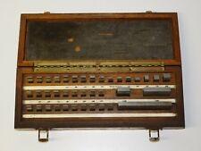 Mitutoyo 38 Piece Gauge Wear Block Set Machinist Inspection Tool Wood Box Case