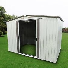 Outdoor Storage Shed Steel Garden Utility Tool Backyard Lawn Building Garage