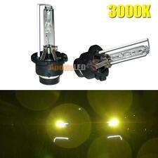 2pcs 3000K Golden Yellow D2S D2R HID Xenon Car Headlight Replacement Light Bulb