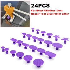 24 PCS Removal Tool Car SUV Body Paintless Dent Repair Tools Glue Puller Lifter