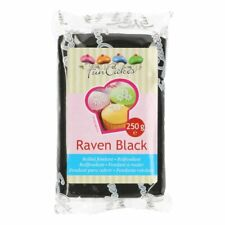Funcakes Rollfondant 250g Raven Black Fondant Schwarz