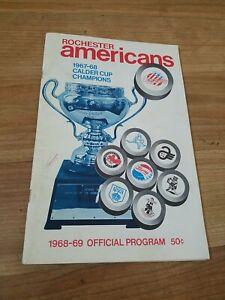 AHL Hockey 1968 Program Springfield VS ROCHESTER AMERICANS