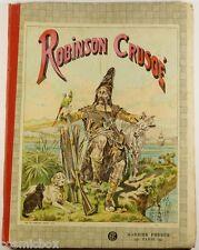 Ancien album illustré ROBINSON CRUSOE Garnier frères Grandville Nehlig de 1924