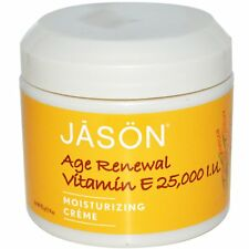 Jason Natural  Age Renewal Vitamin E  Moisturizing Creme  25 000 IU  4 oz  113 g