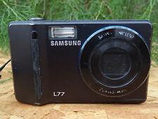Samsung L Series L77 7.4MP Digital Camera - Black w/ Battery + USB Data Cable