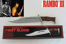 New Rambo 3 SYLVESTER STALLONE First Blood Part III Bowie Hunting Knife